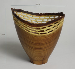 Laburnum wood vessel