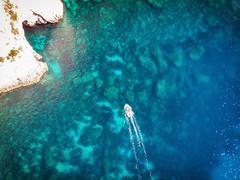 Boat (davе) Tags: malta europe bluegrotto boat water sea drone aerial mavicair coast