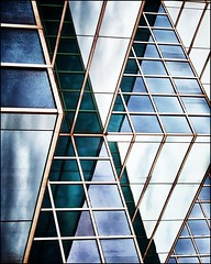 Glass and Metal Abstract #13 (ammozug) Tags: abstract architecture glass metal color lines