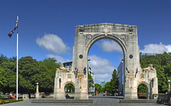 The Bridge of Remembrance Christchurch. (Bernard Spragg) Tags: thebridgeofremembrancechristchurch thisisexcellent arch christchurch lumix city