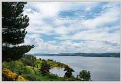 Le ruisseau de Réal (balese13) Tags: 1855mm 3b naussac nikonpassion arbre barrage bleu blue ciel eau nikon nuages pentecote water ruissseauderéal paysage lac 50100fav