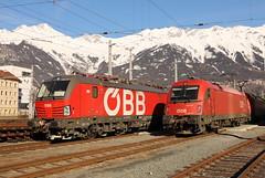 ÖBB 1293 014-7 und 1216 013-3, Innsbruck (TaurusES64U4) Tags: öbb vectron 1293 1216 taurus es64u4