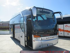 """2018 030903 SETRA S411 COACH BUS SIGUENZA LA MURADA ALICANTE 77 1858 FVK IN ANTEQUERA (Andrew Reynolds transport view) Tags: europe spain andalucia transport bus coach transit passenger omnibus diesel """"mass transit"""" 2018 030903 setra s411 siguenza la murada alicante 77 1858 fvk in antequera"""