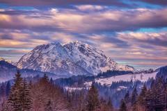 Il mio papà è una nuvola ... (Gio_guarda_le_stelle) Tags: daddy papà austria mountainscape snow clouds sunset evening pink landscape