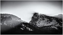 Last Rays of Light... (Ody on the mount) Tags: abendlicht ampezzo anlässe berge dolomiten em5ii fototour himmel italien mzuiko40150 omd olympus rahmen schneeschuhtour schneeschuhtour2019 sonnenstrahlen sonnenuntergang südtirol urlaub bw frame monochrome mountains sw sky cortinad'ampezzo provinzbelluno it