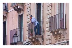 with his thoughts (ibarenogaray) Tags: catania sicilia balcón gente