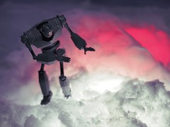 Glowing Glacier (JoeCow) Tags: litra glowing winter closeup macro giant ice snow cold cool robot toy toys awesometoys irongiant