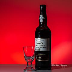 Port (belincs) Tags: 2018 indoors gel flash oneaday port lincolnshire red december glass uk bottle stilllife instagram