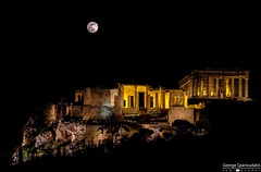 full moon over acropolis (George Spanoudakiss) Tags: fujifilm fuji fujixt2 fujix fujilove fujixseries fujixpassion fujiholic fujicamera fujiphotos fujinon fujimadness fujilover fujifilmhellas xt2 acropolis parthenon ancient monument night greece athens moon luna full