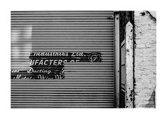 An industrial London Ghost © (wpnewington) Tags: fp4 om2n film analogue analog 35mm industry type typography olympus ilford bw decay plus