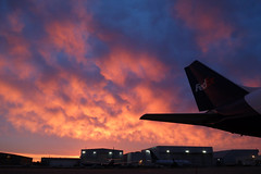 Ramp sunrise... (GeorgeM757) Tags: sunrise fedex ramp nature georgem757 kcle clevelandhopkins weather color