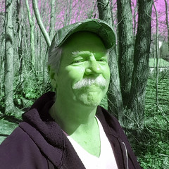 green portrait (Eric.Ray) Tags: green portrait self selfie arms length square wah cellphone