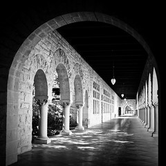Arcs (mgschiavon) Tags: blackandwhite bw blackwhite buildings madebyhumans cities california university architecture