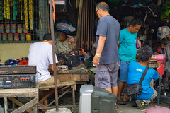 Repair Shop (Beegee49) Tags: street repair men fixing repairing luminar happy planet sony a6000 bacolod city philippines asia