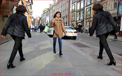 `2559 (roll the dice) Tags: london westminster wc2 coventgarden sunny weather streetphoyohraphy reaction magic people fashion sad mad fun funny smile happy pretty sexy girls urban unaware unknown england uk classic art canon tourism tourists shy shops shopping surreal stare twins light colour boots theabnormalbeautycompany jackets pvc blur drwho hair eyes shadows float scared creepy horror