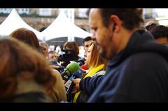 Montserrat Candini in Bilbao (Iker Merodio | Photography) Tags: montserrat candini basque national party country day plaza barria berria nueva bilbao bizkaia biscay euskadi pentax k50 sigma 30mm art