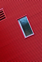 Window in Red (Karen_Chappell) Tags: window red tilt angle abstract building architecture mileone stjohns city urban geometry geometric lines rectangle downtown canada atlanticcanada avalonpeninsula eastcoast newfoundland nfld