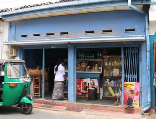 A blue painted shop - Galle Sri Lanka