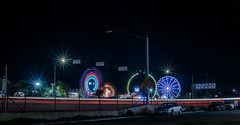 880 side show (pbo31) Tags: eastbay alamedacounty oakland color night daek black march 2019 boury pbo31 butler amusements fair ride carnival traveling spinning 880 lightstream motion traffic freeway