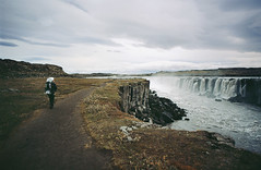 places out of a book (manyfires) Tags: iceland europe travel vacation hiking hike osprey waterfall waterfalls landscape nikonf100 35mm analog film selfoss photographer michael