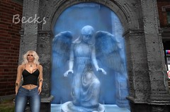 Angel Waterfalls (Becks (Rebecca)) Tags: angel becks waterfall stone secondlife sl avatar avi water
