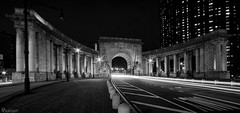 Manhattan Bridge Arch and Colonnade (dansshots) Tags: dansshots nyc newyorkcity newyorkatnight nightphotography nightshot atnight manhattanbridge manhattanbridgeatnight nikon nikond750 nikonphotography rokinon rokinon14mm wideangle bnw blackandwhite blackandwhitephotography blackandwhitephoto blackandwhitenewyorkcity picoftheday pictureoftheday explore urbanexploration urban