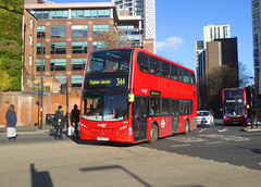 AB 2418 - SN61CXX - ELEPHANT & CASTLE - THU 17TH JAN 2019 (Bexleybus) Tags: ec elephant and castle underground station london road newington causeway abellio adl dennis enviro 400 tfl route 344 2418 sn61cxx