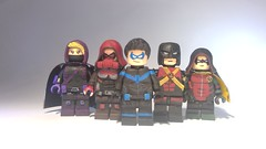 Custom LEGO DC: Post Robin (Caruana Customs) Tags: batman comics detective 1000 nightwing robin red hood damian wayne spoiler stephanie brown jason todd dick grayson tim drake arkham city knight cusotm lego minifigure