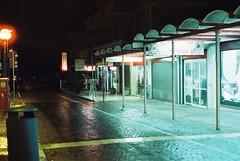 Rimini (goodfella2459) Tags: nikonf4 afnikkor50mmf14dlens cinestill800t 35mm c41 film night analog colour rimini italy streets buildings stores lights manilovefilm