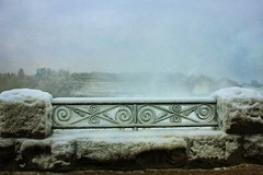#11 - Matching Pair (Rokudan) Tags: 11 matchingpair matching pair iron railings mist ice frozen stone curlicue niagarafalls ontario 52in2019challenge explore expolred inexplore thefogandtherain fotoswithhighquality
