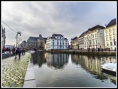 Paseando por Bélgica (edomingo) Tags: edomingo olympusomdem10 mzuiko918 gante bélgica korenlei ríolys