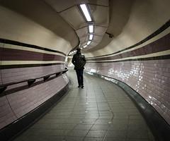Arsenal Station (London Less Travelled) Tags: uk unitedkingdom britain england london city urban suburb suburban suburbia islington highbury street arsenal tube underground station people tunnel
