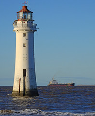 DSCN4067 (Darren B. Hillman) Tags: rocklight lighthouse crosbychannel bulker ship perchrock newbrighton boyanggarnet rivermersey liverpoolbay