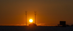 Sunset Between the Masts (stevedewey2000) Tags: salisburyplain wiltshire landscape winter sunset orange gold golden red mast aerial 2351 tamron150600