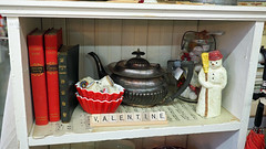 Be my .... (Eclectic Jack) Tags: antique shop display 2019 february 14 14th love true valentine my be book scrabble shelf wood