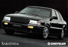 1991 Chrysler Saratoga (Germany) (aldenjewell) Tags: 1991 chrysler saratoga germany europe postcard