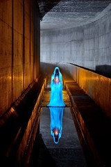 Underworld (palateth) Tags: lightpainting lightart night nophotoshop singleexposure urbex abandonnedplace backlight tunnel underworld