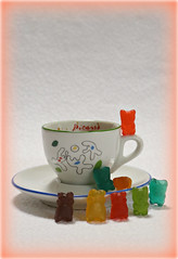 2019 Musée Picasso Paris coffee cup & saucer (dominotic) Tags: 2018 food coffee gummybears confectionery lolly picassosfootballeurs muséepicassopariscoffeecupsaucer coffeeobsession yᑌᗰᗰy coffeecupandsaucer pablopicasso foodphotography sydney australia