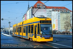 1117-2006-03-04-1-Tröndlinring (steffenhege) Tags: leipzig lvb strasenbahn streetcar tram tramway niederflurwagen duewag ngt8 1117