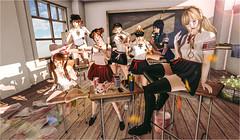 (不良)校园学生会 @ SaNaRae - Coming soon! (imp朣) Tags: school uniform student secondlife second life schooluniform sunshine flower girl cute pigment painting art artist council