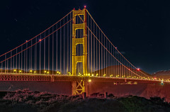 GOLDEN GATE NIGHTS (LOURENḉO Photography) Tags: bridge golden gate goldengate goldengatebridge night photography landscape strait sanfrancisco francisco san bay bayarea marin ocean visit color art view shot beautiful grave photo historic