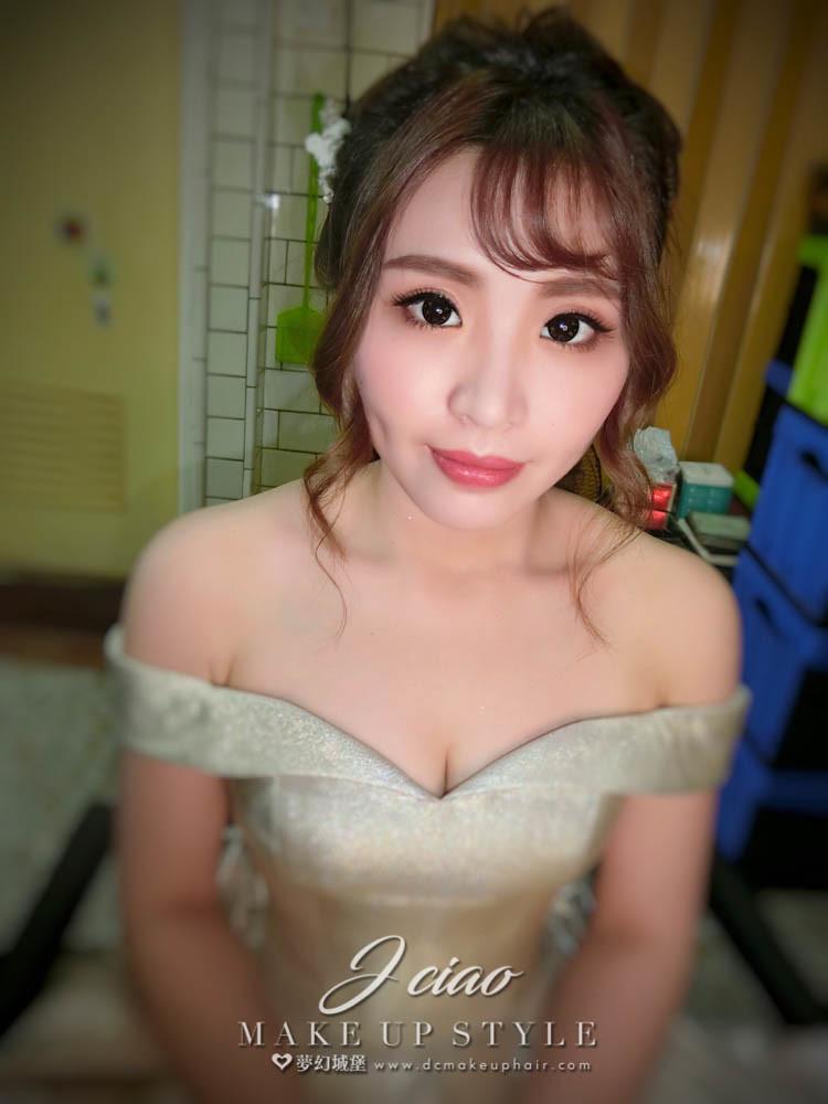 【新秘婕喬】bride采葳 訂婚造型 / 台中自宅