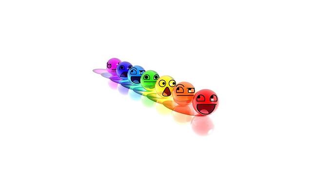 Обои смайл, улыбка, шары, разноцветный картинки на рабочий стол, фото скачать бесплатно