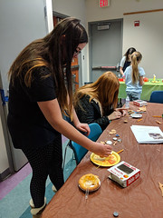 MVIMG_20190314_162039 (Billerica Public Library's Photostream) Tags: billericapubliclibrary youngadultprogram pie day pi table talk 314
