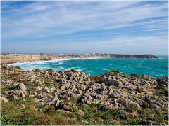 The wind blowed hard on Cape Sagres that day. (Luc V. de Zeeuw) Tags: clouds cloudy coast coastline ocean rocks water waves sagres algarve portugal