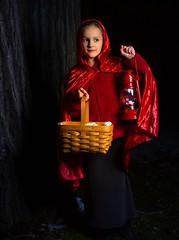 Little Red Riding Hood (geryllz) Tags: createart create creative creativity girl people tale legend woods forest flash flashphotography maiden cloak 5dmarkiii