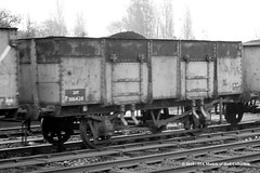 21/10/1963, Hessle, East Riding of Yorkshire. (53A Models) Tags: britishrailways privateowner 21t mineralwagon p306428 goodswagon freightcar hessle eastyorkshire train railway locomotive railroad