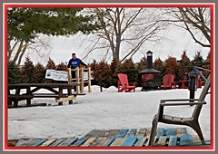 Heat In Winter (bigbrowneyez) Tags: winter snow spring fire dof fabulous greatidea impressive awesome great striking snowbikerentals remicrapids park parkway trees chairs outdoorliving heat heatinwinter special picnictable fantastic woodburning joyful enjoyable happymaking march inverno bello bellissimo freddo windy neve ottawaontariocanada precious surprise man campfire charming amazing