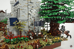 Lond Daer - Brick build horses (Barthezz Brick) Tags: lego lond daer middle middleearth medieval fantasy moc afol barthezz barthezzbrick brick custom lotr lord rings lordoftherings shipyard pub castle wall city