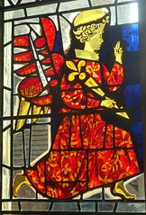 [73651] York : Merchant Adventurers' Hall - Annunciation Window (Budby) Tags: york northyorkshire hall guild gild window stainedglass